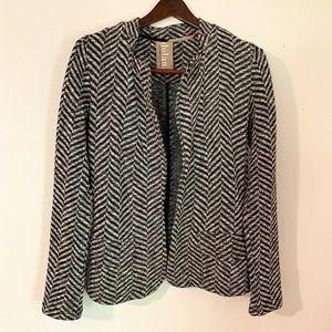 Anthro Dolan Herringbone Knit Blazer Size S